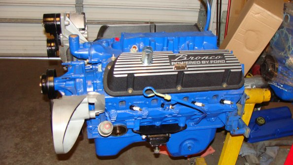 Mustang 5.0 Engine with Bronco Valve Covers